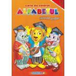 Carte de colorat alfabetul exercitii grafice