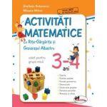 Activitati matematice cu Rita-Gargarita si Greierasul Albastru : Caiet pentru grupa mica 3-4 ani