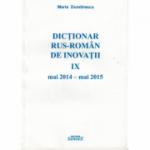 Dictionar rus-roman de inovatii IX mai 2014 - mai 2015 - Maria Dumitrescu
