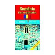 Romania - harta manastirilor (scara: 1:850.000)