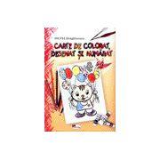 Carte de colorat, desenat si numarat