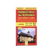 Manastirile din Romania.Harta turistica si rutiera (romana - engleza)