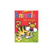 Animale din jungla- carte cu abtibilduri si poze