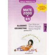 Algebra, geometrie - clasa a VII-a, partea a II-a (semestrul 2), anul scolar 2008-2009