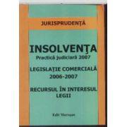 Insolventa practica judiciara