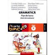 Gramatica. Fise de lucru pentru clasa a V-a
