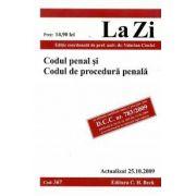 Codul penal si Codul de procedura penala (actualizat la 25.10.2009)