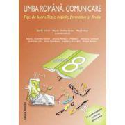 Limba română. Comunicare. Fise de lucru. Clasa a 8-a