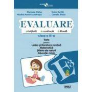 Evaluare - teste romana, matematica si cunoasterea mediului clasa a III-a (Penes)