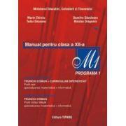 Matematica. Manual pentru clasa a XII-a. Programa M1