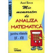 Mic memorator de analiza matematica pentru clasele IX-XII