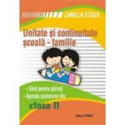 Unitate si continuitate scoala-familie clasa a II-a (Agenda elevului)