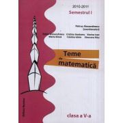 Teme de matematica. Clasa a V-a, semestrul I