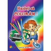 Haideti sa coloram! Carte de colorat pentru baieti