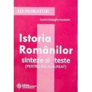Memorator de Istoria Romanilor - sinteze si teste (pentru bacalaureat)