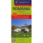 România - Harta rutiera Confort