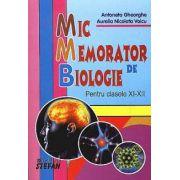 Mic memorator de biologie, pentru clasele XI-XII