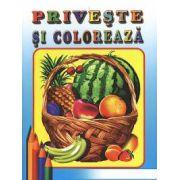 Priveşte şi colorează: Fructe