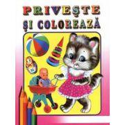 Priveşte şi colorează: Jucării 2