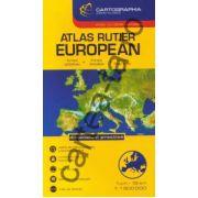 Atlas rutier European - atlas cu ţările europene -