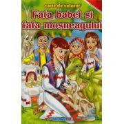 Fata babei si fata mosneagului ~ Carte De Colorat ~