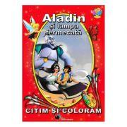 Aladin si lampa fermecata - Citim si coloram