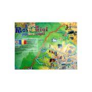 Harta României pentru copii