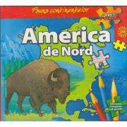 Fauna continentelor - AMERICA de NORD - Carte PUZZLE