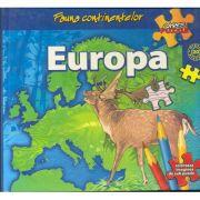 Fauna continentelor - EUROPA - Carte PUZZLE