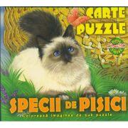 Specii de pisici - Carte PUZZLE