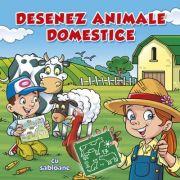 Desenez animale domestice (cu sabloane) - Ed. Nomina