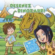 Desenez dinozauri (cu sabloane) - Ed. Nomina