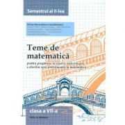 Teme de matematica. Clasa a VII-a (semestrul II) - Petrus Alexandrescu