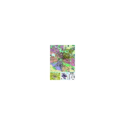Bucuresti - planul orasului laminata (scara: 1:15.000)