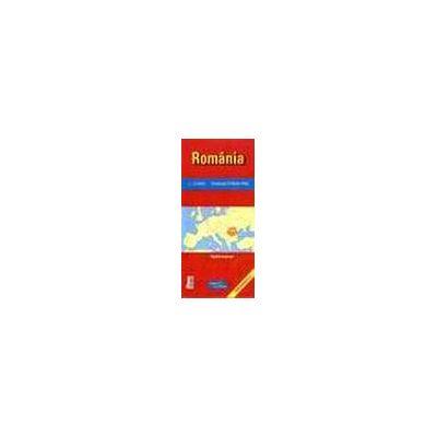 Romania -camping & motels map