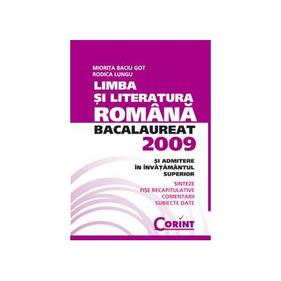 Bacalaureat 2009 Limba si literatura romana