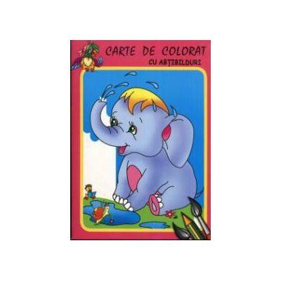 Elefantelul - Carte de colorat cu abtibilduri