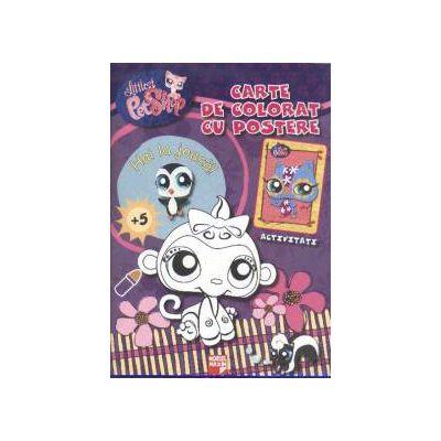 Littlest pet shop. Carte de colorat cu postere