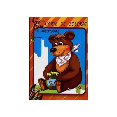 Ursul - Carte de colorat cu abtibilduri