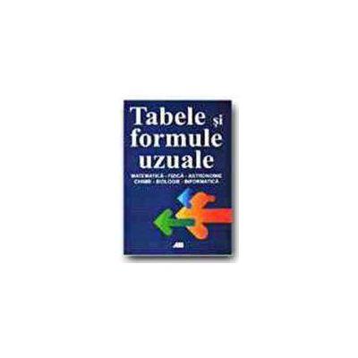 Tabele si formule uzuale - Matematica, fizica, astronomie, chimie, biologie, informatica