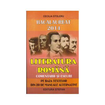 Bacalaureat 2014 literatura romana