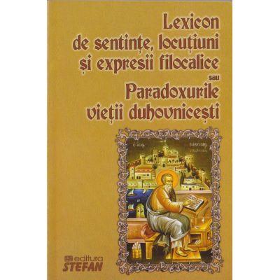 Lexiconde sentinte, locutiuni si expresii filocalice