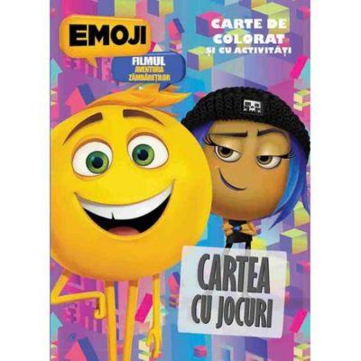 Emoji filmul - Cartea cu jocuri. Carte de colorat si cu activitati