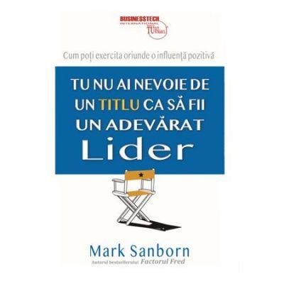 Tu nu ai nevoie de un titlu ca sa fii un adevarat lider, Mark Sanborn