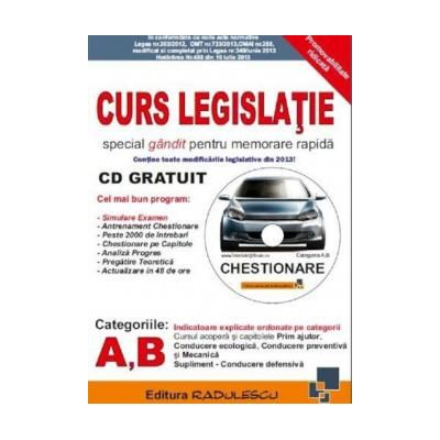 Curs de legislatie rutiera, pentru categoriile A, B
