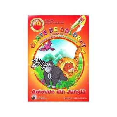 Carte de Colorat Animale Din Jungla