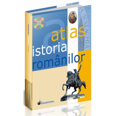 Atlas istoria romanilor. Contine CD (Editie Cartonata) - Oprean, Elena