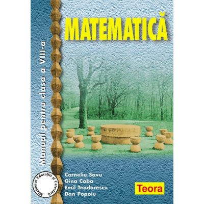 Matematica - Manual pentru clasa VIII (Caba)