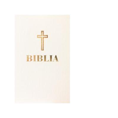 Biblia. Editie omagiala 100 de ani de la Marea Unire, alba, piele (margini aurite)