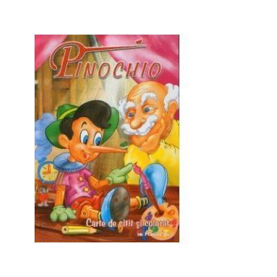 Pinochio - carte de citit si colorat